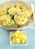 Cheese And Spinach Scones — Stock Photo