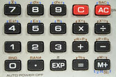 Closeup Calculator Keyboard — Stock Photo