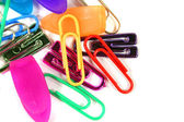 Kleurrijke paperclips — Stockfoto