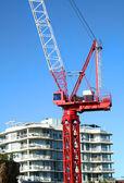 Construction Crane On The Job — Stock Photo