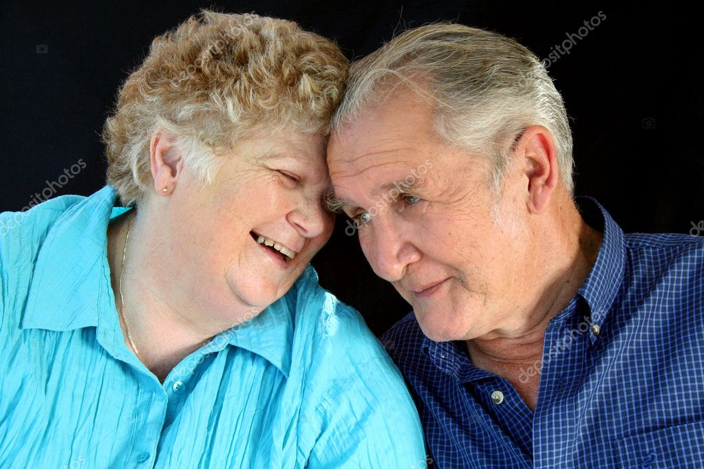 Senior married couple enjoy each other's company.  Stock Photo #11569008