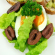 Egg Lettuce And Olives — Stock Photo