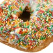 Stock Photo: Hundreds And Thousands Doughnut 1