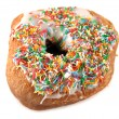 Stock Photo: Hundreds And Thousands Doughnut 3