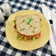 Stock Photo: Jumbo Salad Sandwich