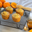 Orange And Poppyseed Cakes — Stock Photo