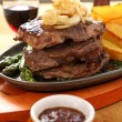 Steak And Wedges - Stock Photo