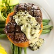 Steak With Peppercorn Sauce — 图库照片