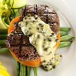 图库照片: Steak With Peppercorn Sauce