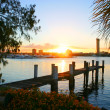 Sunset Over Broadwater — Stock Photo
