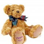 Thank You Teddy 1 — Stock Photo