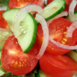 Tomato, Cucumber And Onion - Stock Photo