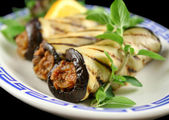 Egg Plant And Beef Rolls — Stock Photo