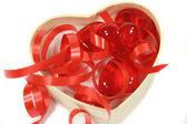 Hearts And Ribbons — Stock Photo