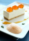 Mandarin Cheese Cake — Stock Photo
