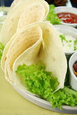 Tortillas And Lettuce — Stok fotoğraf
