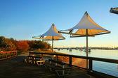 Southport cieniu żagle — Zdjęcie stockowe