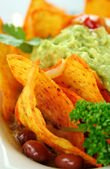 Vegetarian Nachos — Stock Photo