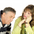 Dejected Middle Aged Couple — Stock Photo