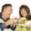 Couple Enjoying Lunch — Stock Photo