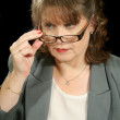 Mature Businesswoman With Glasses — Stock Photo
