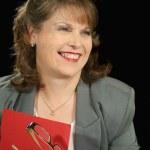 Red Folder Businesswoman 3 — Stock Photo