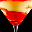 Apricot Trifle In A Glass — Stock Photo