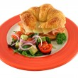 Stock Photo: Cheese And Ham Croissant 1