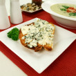 Blue Cheese Toast And Soup — Foto Stock
