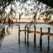 Jetty At Sunset — Stock Photo