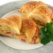 Stock Photo: Melted Cheese Croissant 1