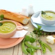 Pea Soup With mint - Stock Photo