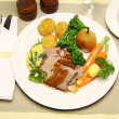 Stock Photo: Roast Lamb Meal