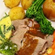 Stock Photo: Roast Lamb