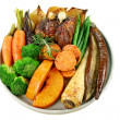 Stock Photo: Roast Lamb And Vegetables