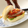 Royalty-Free Stock Photo: Hamburger With Ketchup