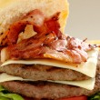 Double Bacon And Cheese Burger — Stock Photo #11668388