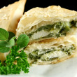 Spinach And Feta Triangles - Stock Photo