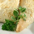 Herbs And Pastry Background — Stock Photo #11668540