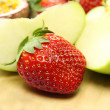 Strawberry And Apple — Stock Photo