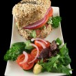 Wholegrain Salad Roll 2 — Stock Photo