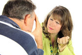 Arguing Middle Aged Couple — Stock Photo