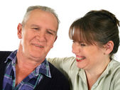 Father Laughing With Daughter — Stock Photo