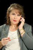 Businesswoman With PDA or Cell Phone — Stock Photo