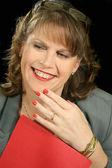 Red Folder Businesswoman 2 — Stock Photo