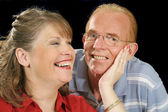 Middle Aged Couple Holding — Stock Photo