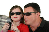 Cool Dad And Daughter — Stock Photo