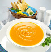 Hearty Pumpkin Soup — Stock Photo