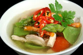 Low Carb Chicken And Vegetable Soup 2 — Stock Photo