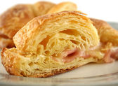 Melted Cheese And Ham Croissant — Stock Photo
